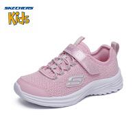 斯凯奇(Skechers)女童鞋 2019年秋季新款 魔术贴休闲鞋 轻便运动鞋81516L 粉色-LTPK 27.5码