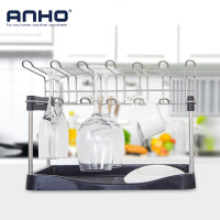 ANHO碗架 放碗架厨房用品沥水架碗碟架 家用晾碗架 倒挂红酒杯架托盘