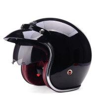 野马629四季哈雷头盔半覆式电动车摩托车安全帽夏季男女复古机车半盔629