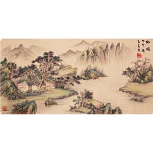 《仙境》毛义侠-中国书法大学教授、世界艺术家资格审查委员会副主席【真迹R739】