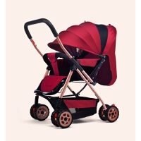 婴儿推车可坐躺轻便折叠双向四轮0/1-3岁宝宝新生儿童小孩手推车