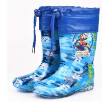 小孩加棉雨靴时尚新款儿童雨鞋保暖加棉防滑雨靴男童女童胶鞋中筒水鞋加绒