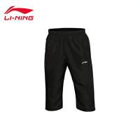 李宁短裤七分运动裤男士训练系列训练裤夏季梭织运动裤AKQL019