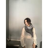 纯色围巾披肩两用双面加厚冬季围巾女百搭纯色学生围脖韩版