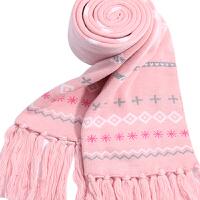 围巾女秋冬天时尚韩版甜美可爱女学生围巾双层加厚针织围脖披肩