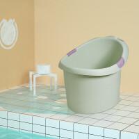 宝宝洗澡桶 婴儿大号加厚保温浴盆可坐浴儿童泡澡沐浴桶