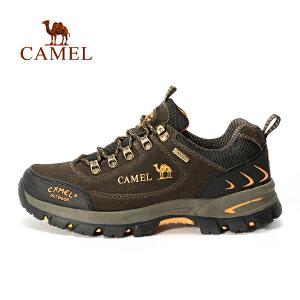 【每满200减100】camel骆驼户外舒适徒步鞋 男女情侣款系带减震徒步鞋