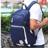 时尚个性便携耐用帆布双肩电脑包旅行包 学生书包男休闲包 男士大背包
