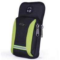 男士穿皮带腰包手机包运动跑步腰包挂包单肩斜跨小背包