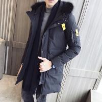 男士外套冬季中长新款棉衣男韩版修身潮流羽绒棉服加厚冬天棉袄男DJ-DS204