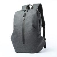 双肩电脑包男13联想14寸15.6苹果水大学生小米戴尔笔记本 深灰色【大号】