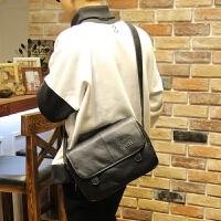 男包 复古 韩版斜挎包时尚机车小挎包学生潮包单肩包包差 黑色 全场满2件送手包