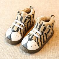 儿童棉鞋男童女童二棉鞋2017新款宝宝季加绒保暖小童鞋子1-3岁2