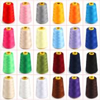 彩色宝塔线家用缝纫线手缝402黑色线缝纫机缝衣服线白线大卷针线
