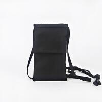 简主义斜挎小包手机包港风潮男女单肩小跨包可装7寸大屏手机袋