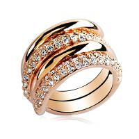 组合可拆分饰品日韩版女潮镀玫瑰金关节夸张宽食指装饰戒指
