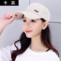 帽子女夏棒球帽潮纯色百搭韩版遮阳帽出游太阳帽鸭舌帽学生时尚