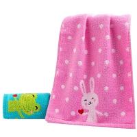 时尚儿童毛巾纯棉宝宝洗脸家用小毛巾柔软吸水全棉卡通小面巾