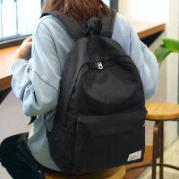 日韩书包女双肩包简约休闲旅行电脑背包男初中学生ins的书包