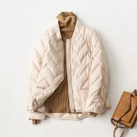 棒球领轻薄羽绒服女短款2018冬季新款韩版时尚小个子羽绒衣外套女
