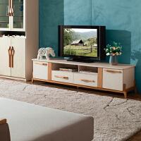 御品工匠 纯全实木电视柜 北欧简约 现代橡木家具2米环保地柜 B05电视柜