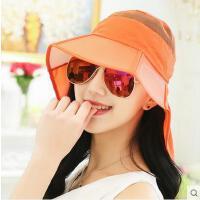 户外女帽子女鸭舌帽防晒遮阳帽女可折叠潮太阳帽遮脸防紫外线