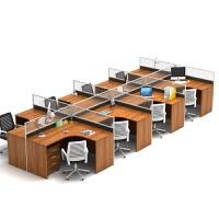 办公家具屏风隔断6人4人位职员办公桌椅组合四人工位卡座简约现代