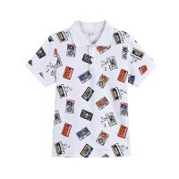 【2件5.5折到手价:49】小猪班纳童装男童短袖T恤2019夏季童反领短袖针织衫上装