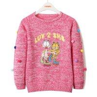 加菲猫女童提花针织衫儿童春装新款打底衫GGM17526
