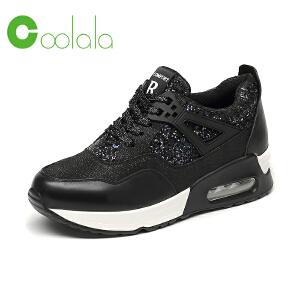 红蜻蜓coolala 时尚真皮运动鞋 新款女单鞋潮流运动休闲女鞋
