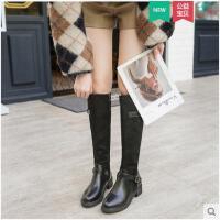 长靴女冬季新款靴子过加绒膝长筒靴皮靴中筒骑士靴高筒靴女鞋