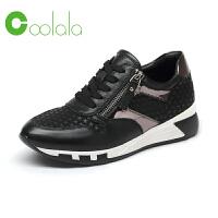 红蜻蜓coolala 真皮舒适运动鞋女单鞋休闲时尚旅游鞋女鞋