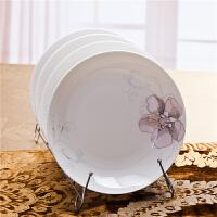 [当当自营]SKYTOP斯凯绨 陶瓷高档骨瓷餐具 金百合8英寸饭盘(4个装)