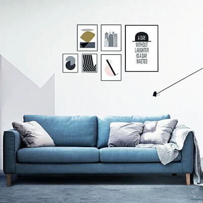 【限时直降】幸阁 亲肤舒适北欧沙发设计师款W1880 组合沙发转角沙发牛皮沙发羽绒沙发乳胶沙发支付礼品卡 送靠枕 亲肤透气可拆洗
