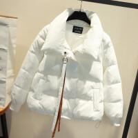 棉衣女2018冬装新款韩版面包服短款小棉袄学生加厚羽绒白外套