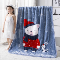 儿童婴儿毛毯双层加厚宝宝盖毯新生儿小毯子秋冬季双面珊瑚绒毯子