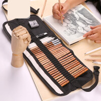 铅笔素描套装绘画素描铅笔绘画成人画画工具初学者美术用品炭笔素描工具画笔套装学生用