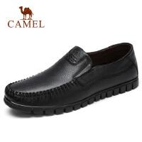 camel骆驼男鞋 春夏新款商务休闲爸爸鞋舒适轻便套脚驾车鞋男皮鞋