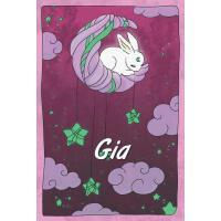 【预订】Gia: personalized notebook sleeping bunny on the moon w