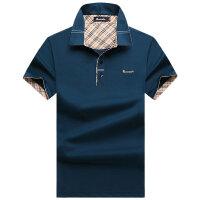 伯思凯/burscalm新款夏装商务丝光棉翻领男士短袖polo衫 支持货到付款