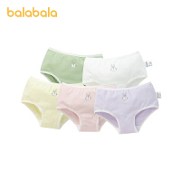 【2件6折:71.4】巴拉巴拉女童�妊�棉三角��和�短�中大童����甜美印花�r尚五�l�b