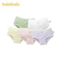 巴拉巴拉女童内裤棉三角裤儿童短裤中大童宝宝甜美印花时尚五条装
