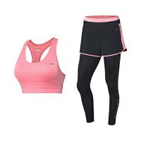 李宁套装女士2019新款运动文胸紧身运动长裤运动短裤三件套运动服