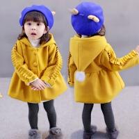 1-2-3-5岁女童装加厚毛呢外套中小童季女孩宝宝儿童呢子大衣