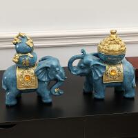 大象摆件风水象玄关酒柜电视柜装饰办公室摆设工艺品开业礼品