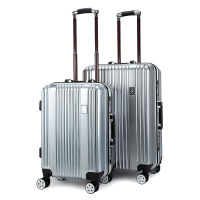 新款时尚男女20寸行李箱 男女旅行万向轮款箱包ABS+PC拉杆箱