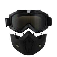 骑行面罩面具越野护目镜沙摩托车头盔风镜男机车半盔