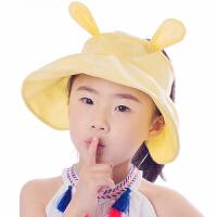 儿童帽子夏季宝宝防晒帽太阳帽户外遮阳帽大沿空顶帽防紫外线