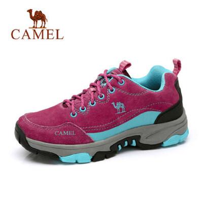 骆驼户外女鞋徒步登山鞋冬季防水防滑轻便运动鞋