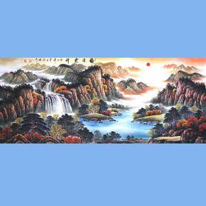 中国青年美术家协会常务理事,中国山水画院专业画家,国家一级美术师高云鹏(福日东升)2